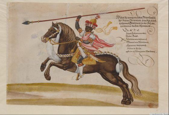 Turnierbuch des Erzherzogs Ferndinand II, von Tirol fol 53 Kunsthistorisches museum Wien.