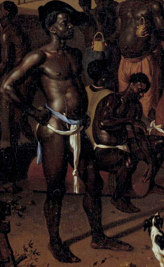 Dirk Valkenburg De Slavendans ca 1707, o/d 58 x 46 Kopenhagen Statens Museum for Kunst