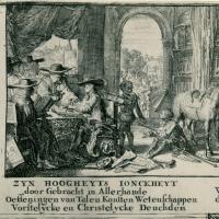Jan (van) Dam en andere Afrikanen aan het hof van koning-stadhouder Willem III
