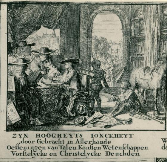 detail Leven en daden van Willem III, 1675, Romeyn de Hooghe, 1675 RP-P-1885-A-9007