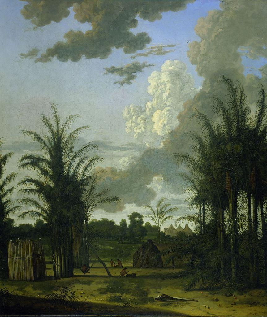 Plantage in Suriname, Dirk Valkenburg, 1707 SK-A-4075