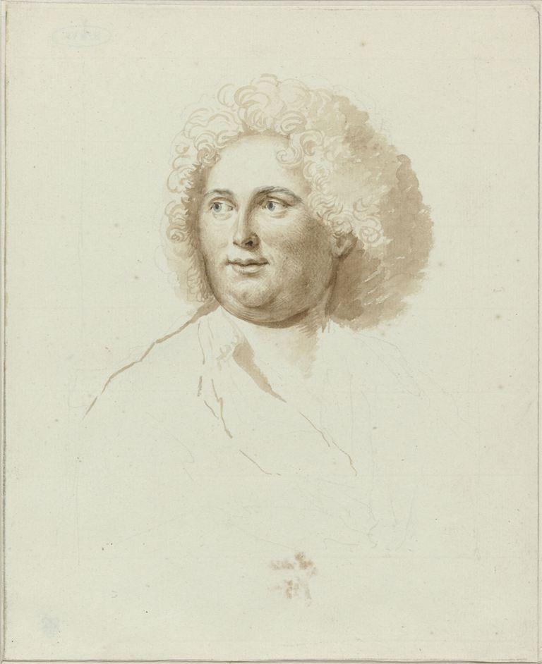 Portret van de schilder Dirk Valkenburg, anoniem, 1685 - ca. 1721 RP-T-1940-322