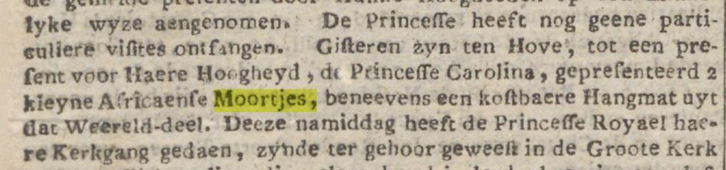 1748 Twee Afrikaanse moortjes voor Caroline