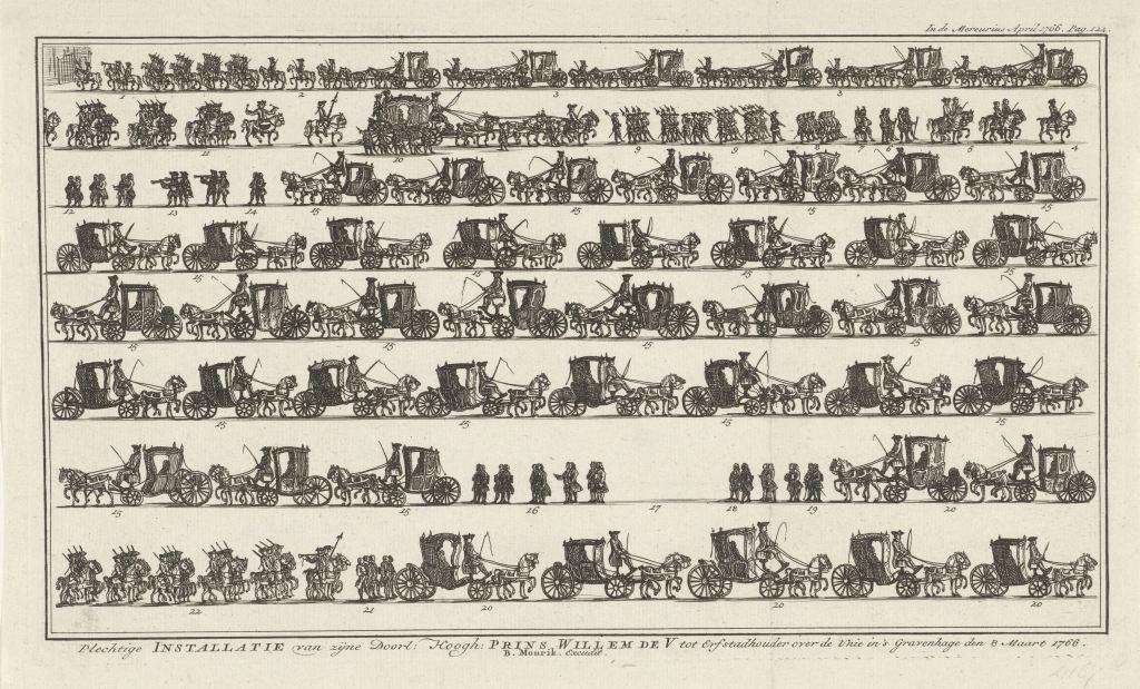 Optocht voor installatie van Willem V als erfstadhouder, 1766 nr 7 de moren