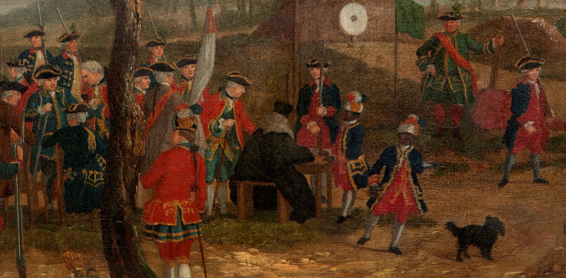 detail T.P.C. Haag, De schietpartij op Het Loo, ca 1770, Stichting Edwina van Heek