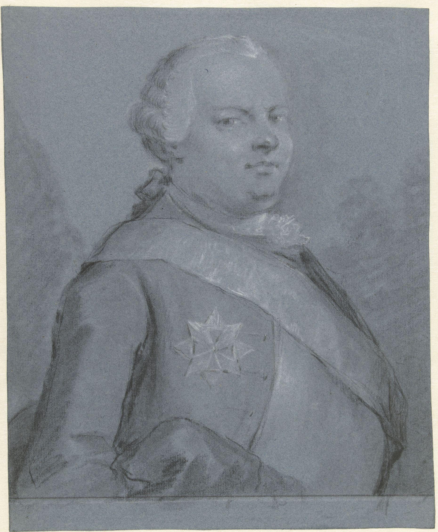 Portret van Lodewijk Ernst Hertog van Brunswijk-Wolffenbüttel Aert Schouman 1763 RP-T-1906-41