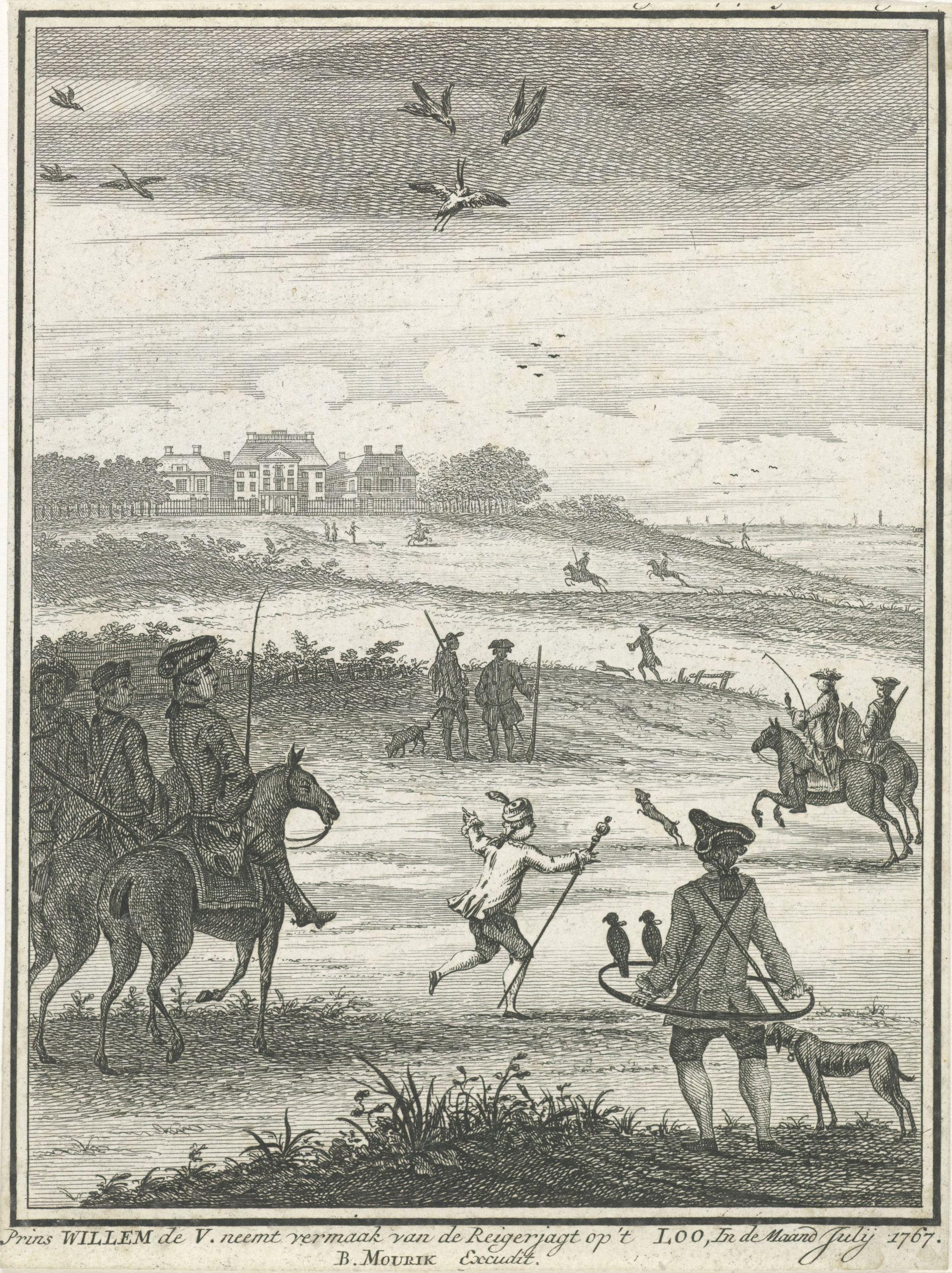 Willem V op jacht bij Het Loo coll Rijksmuseum